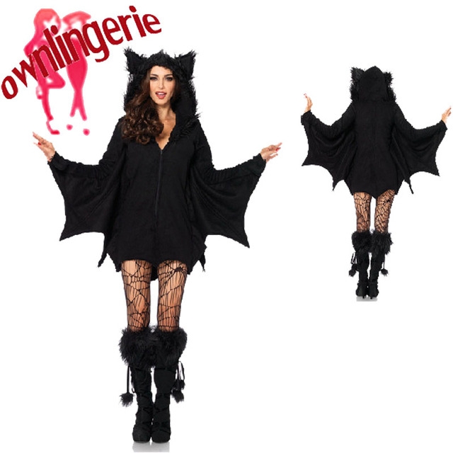 Caliente Halloween traje ropa niñas Batman Bat hombre papel ...