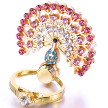 360 Diamond Universal Metal Finger Ring Holder For iPhone Samsung Xiaomi Mobile Phone Finger Stand Mount Support ring Phone