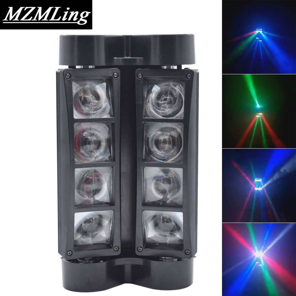 8x10w RGBW CREE Beam Light 8 Eyes Mini Spider Light DMX512 Moving Head Light DJ /Bar /Party /Show /Stage Light LED Stage Machine  moving head spider lights cree led 8x10w rgbw moving head show light disco ktv dj club show bar led stage lighting