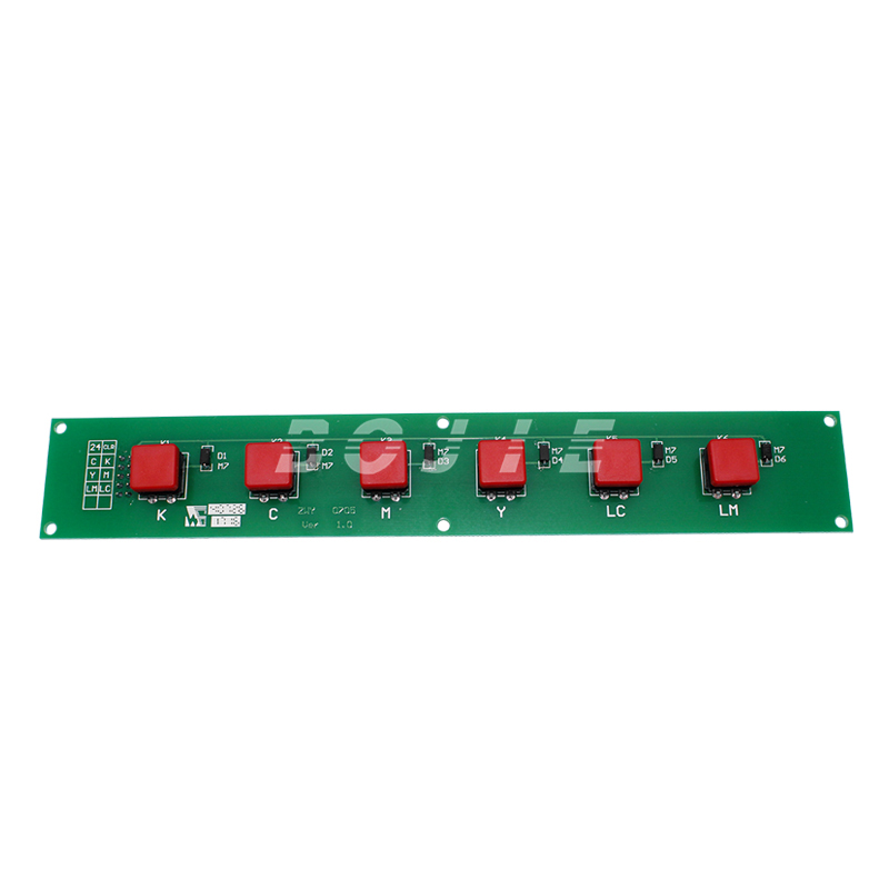 hot sale key board for gongzheng solvent printer press button board for seiko printhead spectra skywalker pci card for gongzheng printer