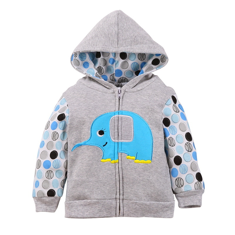 2018 baby boys girls hooded sweatshirts cotton cartoon tops truck flower whale out wear kids clothes for newborn 3m-18m 2