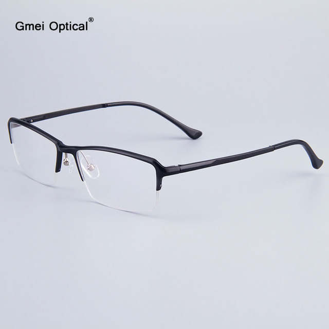 8e1c163181e Voguish Business Men Half-Rim Glasses Frames Brand Designer Women Frames  Hydronalium Eyeglasses Frames With