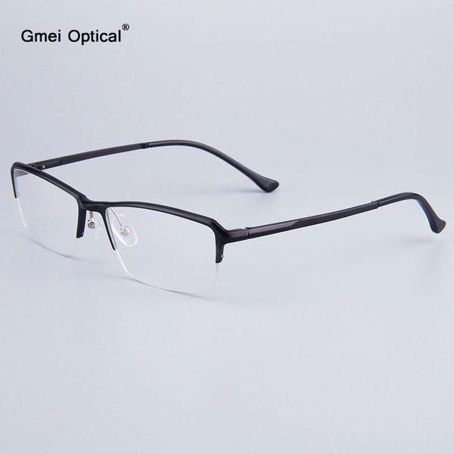 Voguish Homens de Negócios de Meia-Rim Armações de Óculos de Marca Designer de Mulheres Quadros Hydronalium Armações de Óculos Com Dobradiça de Mola Nas Pernas