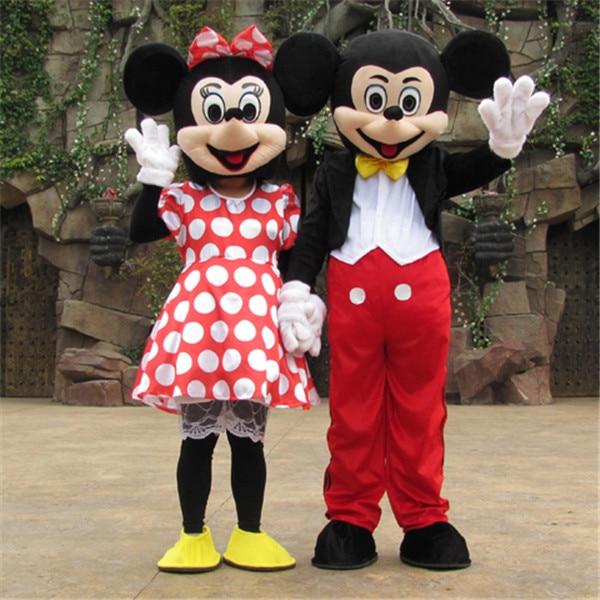 Minnie Mickey Mascote Traje Dos Desenhos Animados Personagem Festa