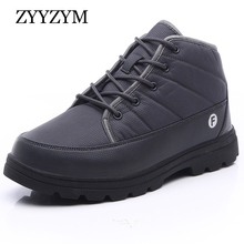 ZYYZYM Mens Boots Winter Unisex Waterproof Cold proof Warming Plush Snow Men High-Top Outdoors Zapatos De Hombre