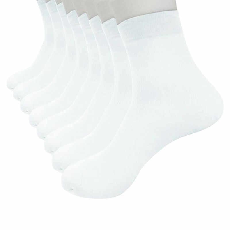 8 paires bambou Hocok fibres chaussettes Ultra-mince élastique soyeux court soie hommes chaussettes populaire respirant Soxs Meias élastique Sokken