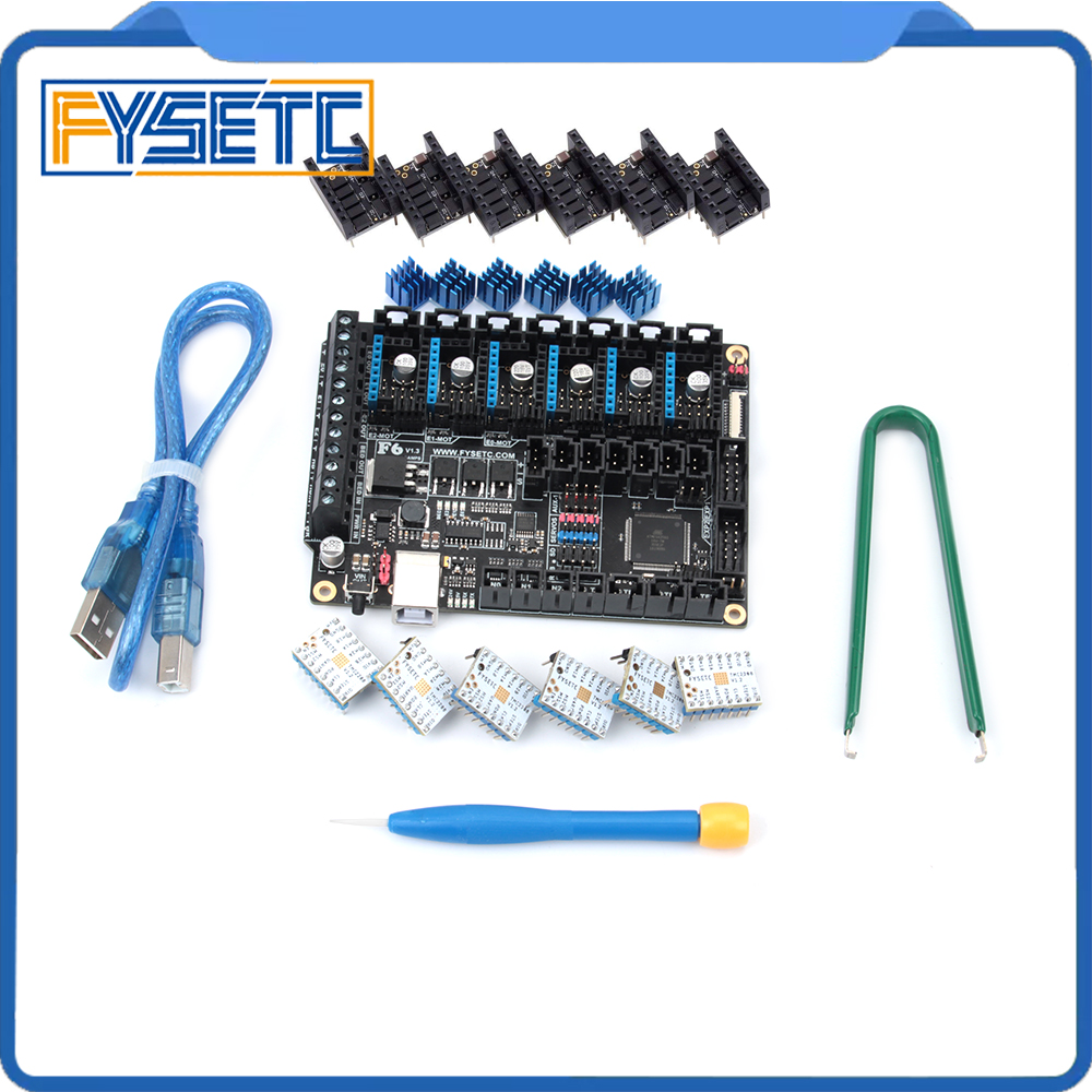 FYSETC F6 V1 3 Board ALL in one Electronics Solution Mainboard 6pcs TMC2208 V1 2 6pcs