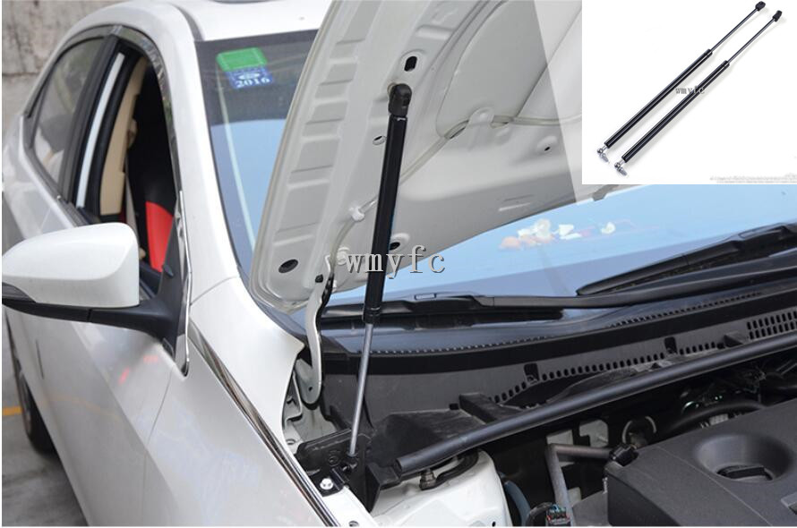 2pcs FOR Toyota Corolla 2014 2015 2016 2017 2018 2019 ACCESSORIES CAR BONNET HOOD GAS SHOCK STRUT LIFT SUPPORT CAR STYLING|Chromium Styling| |  - title=