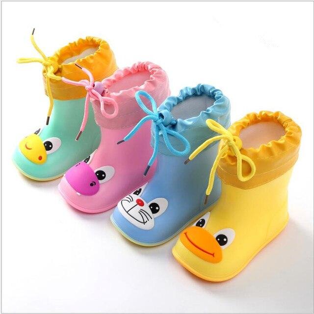Yeni Moda Klasik çocuk ayakkabıları PVC Kauçuk Çocuklar Bebek Karikatür Ayakkabı çocuk su ayakkabısı Su Geçirmez yağmur çizmeleri