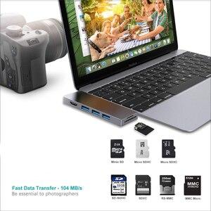 """Image 3 - Adaptateur de Dock Multiport USB C Hub pour Apple MacBook Pro 13 """"& 15"""" 2016,2017,2018,MacBook Air 2018,HDMI 4K, alimentation 100W, 40Gbp"""
