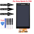 For Sony Xperia S LT26i LCD display Touch Screen with Digitizer Assembly + Tools ,Black Free shipping !!!