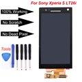 Para sony xperia s lt26i lcd screen display touch com digitador assembléia + ferramentas, Frete grátis preto!!!