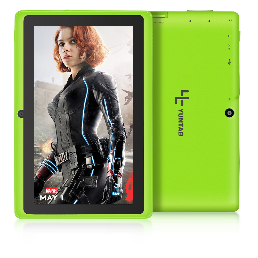 Yuntab 7 inch Q88 Allwinner A33 Quad Core 512MB/ 8GB Android 4.4 Kids Tablet HD Screen 1024*600 Dual Camera Free Shipping