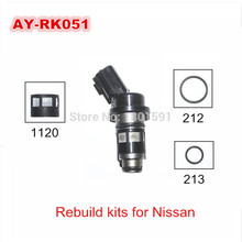 free shipping Fuel injector rebuild kit for Nissan  B13 fuel injector repair kits serve kits with 40pieces/bag