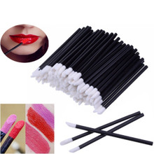 50Pcs/Set Disposable Make Up Cleaner Applicators Lip Brush Stick Cosmetic Lipstick Gloss Soft Wands Makeup Brushes Cleaning Tool