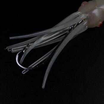 Elektroniczna Lampa Błyskowa LED Przynęta Na Kalmary Miękka Lampa świecąca Squid Przynęty Na Słonowodne Wędkarstwo Trolling łódź Wędkarska 12cm 14cm 17cm
