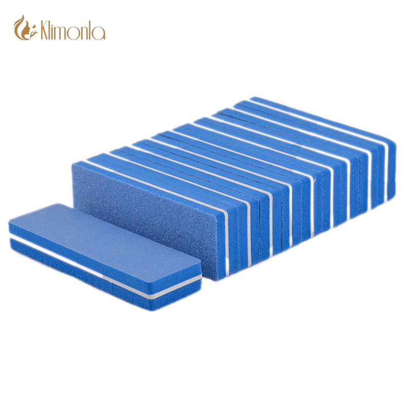 40Pcslot Blue Nails File Cuboid Sponge Nail Buffer Buffing Sanding Files 100180 grit 2side for UV Gel Nail Care or DIY Tools