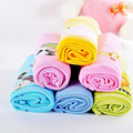 2017 New color 80 * 70cm 100% flannel cotton baby blanket 4pcs / pack colorful blanket welcome newborn baby blanket