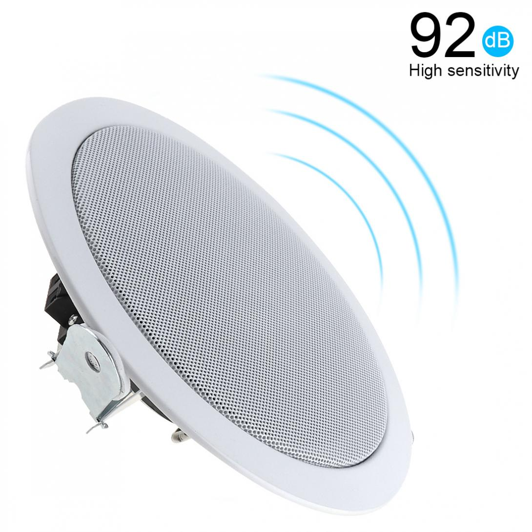 2pcs 15W Metal Microphone Input USB MP3 Player Ceiling Speaker Public Broadcast Background Music Speaker for