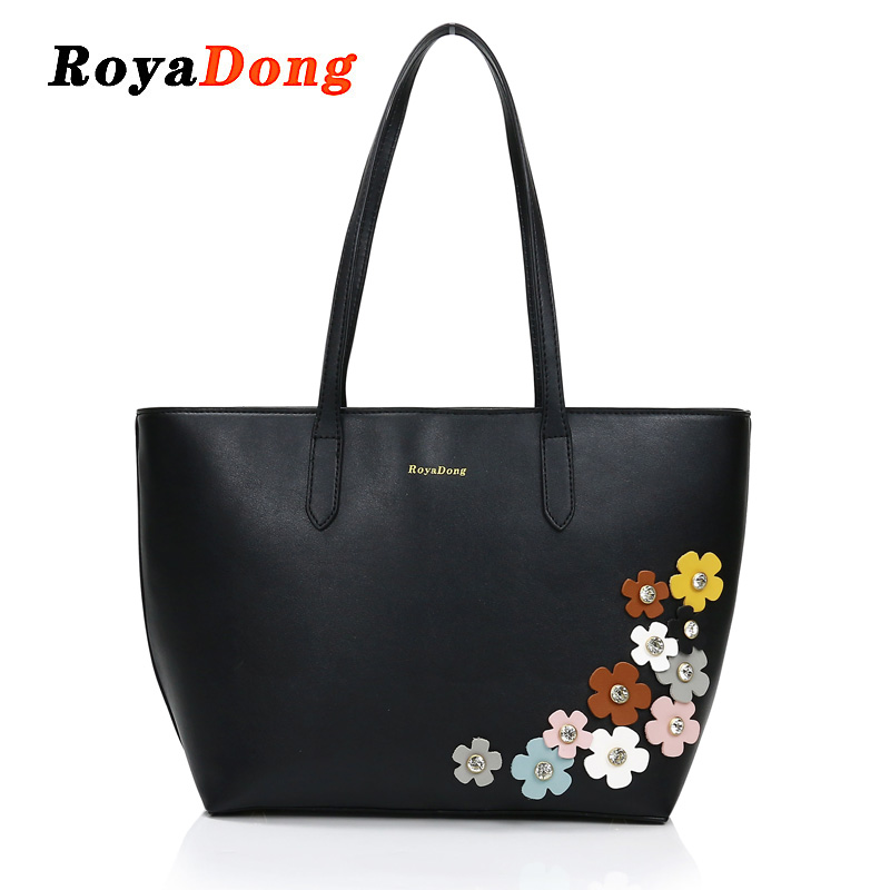 Royadong New Brand 2018 Women Bags Candy Color Flower Big