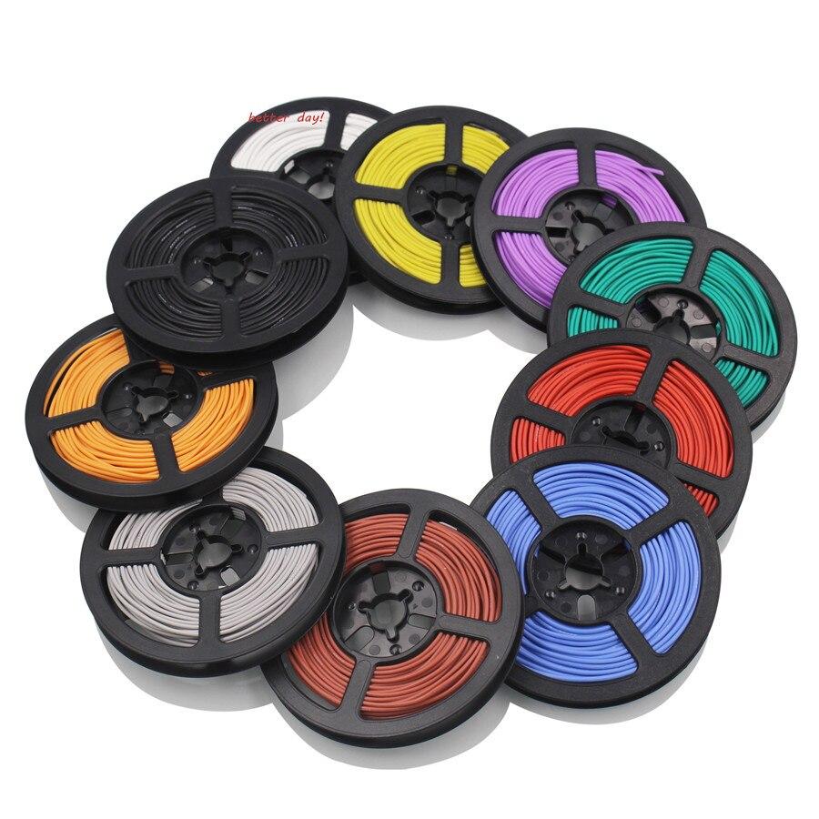20 м/лот 16.4ft 30 AWG гибкий силиконовый провод RC кабель 11/0. 08TS наружный диаметр 1,2 мм электронный проводник DIY 10 цветов