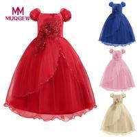 MUQGEW Lace Girl Princess Bridesmaid Pageant Tutu Tulle Gown Party Wedding Dress fashion child dress sukienki dziewczynka #sg