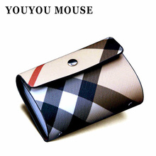 New Arrival Business Card Holder Wallet Men & Women Leather Credit Card Holder Plaid Design Bank Case Purse 26 Slots ID Holders
