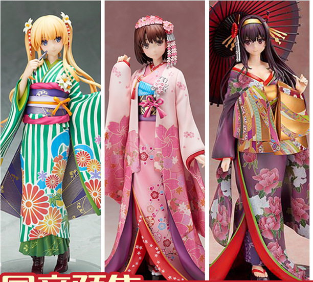 Saenai Heroine no Sodatekata Character Katou Megumi Utaha Kasumigaoka Kimono Ver. PVC Figure Collectible Model Toy 12cm saenai heroine no sodatekata katou megumi sexy anime action figure pvc brinquedos collection toys for christmas gift