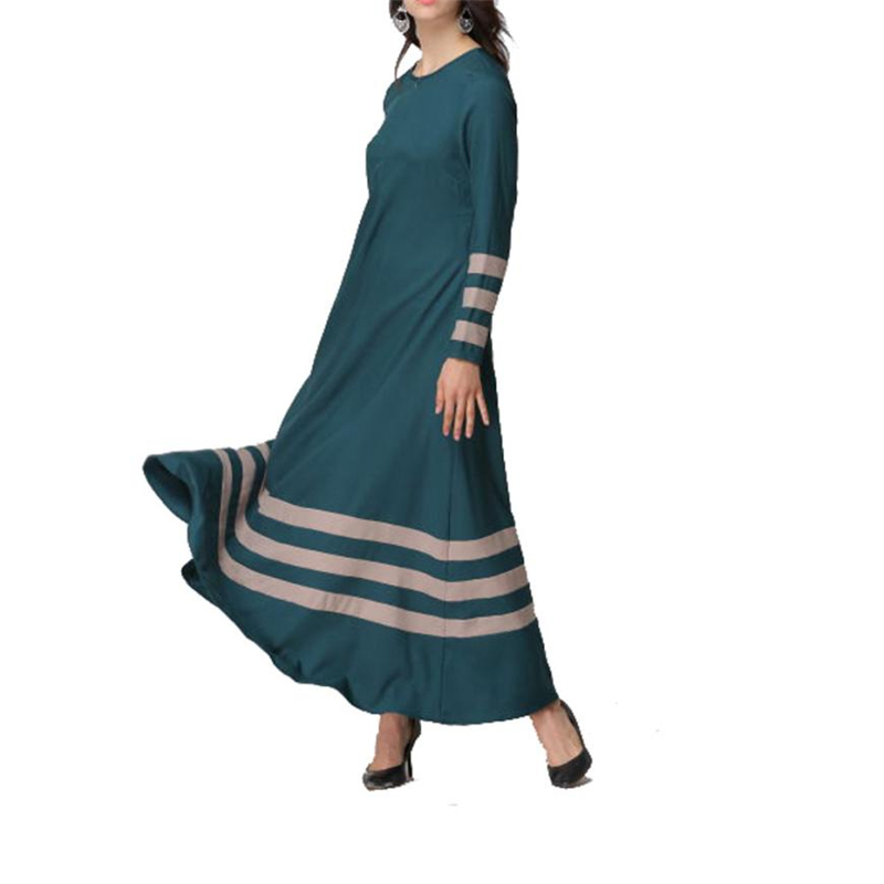 CHAMSGEND Indie Folk dresses summer 2018 Muslim Women Islamic Stripe Print  Plus Size Middle East Long Dress O0707 30-in Dresses from Women s Clothing  on ... 21b4e4bcded2