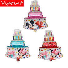 VIPOINT PARTY 44x30cm pink red blue mouse cake foil balloons wedding event christmas halloween festival birthday party HY-136