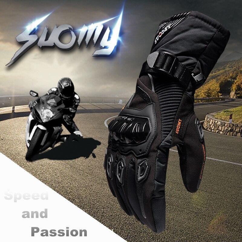 SUOMY Inverno moto calda 100% Impermeabile antivento Guantes Moto Luvas Touch Screen Motosiklet Eldiveni Protettiva