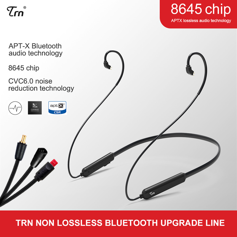 TRN earphone accessories Wireless bluetooth 4.1 APT-X <font><b>Cable</b></font> 0.75/ <font><b>0.78</b></font>/ MMCX HIFI Earphone <font><b>2PIN</b></font> <font><b>Cable</b></font> for V10 V20 V60 image