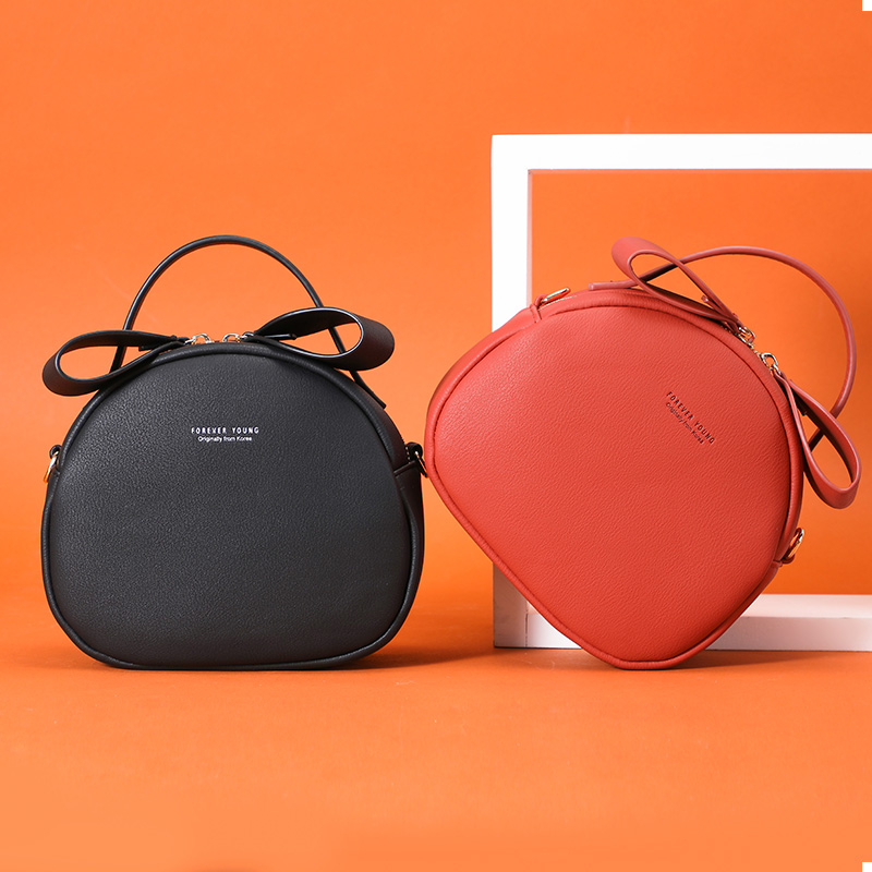 Image 4 - NEW Geometrical Circular Women Shoulder Bag Leather Women's Crossbody Messenger Bags Sac Female Round Bolsa Ladies Handbag Girls-in Shoulder Bags from Luggage & Bags