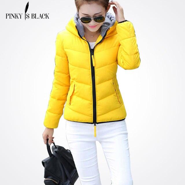 Pinky Is Black 2017 Snow wear wadded jacket female autumn and winter jacket women slim short jacket outerwear winter coat women