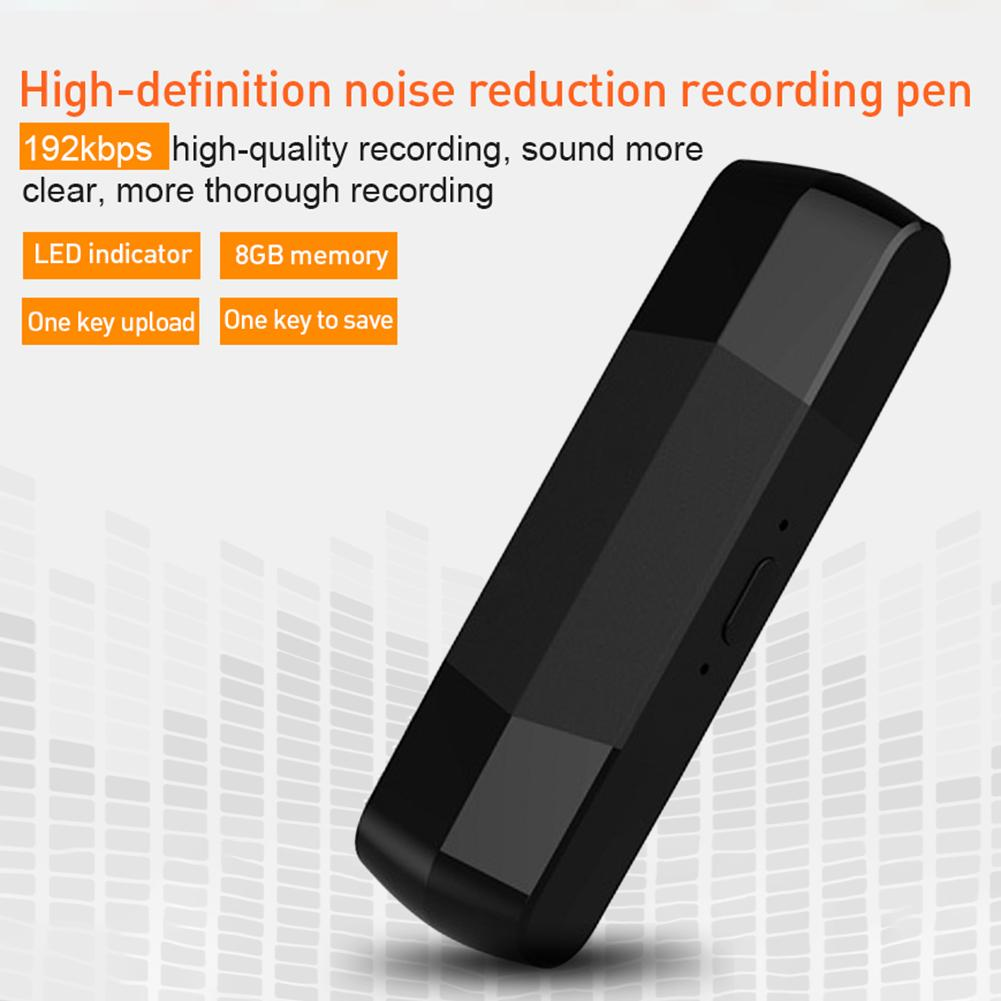 Portable HD Digital USB Voice Recorder 8GB Recording U Disk OTG For Android Dual Plug MP3 Player Telephone Audio Recording image