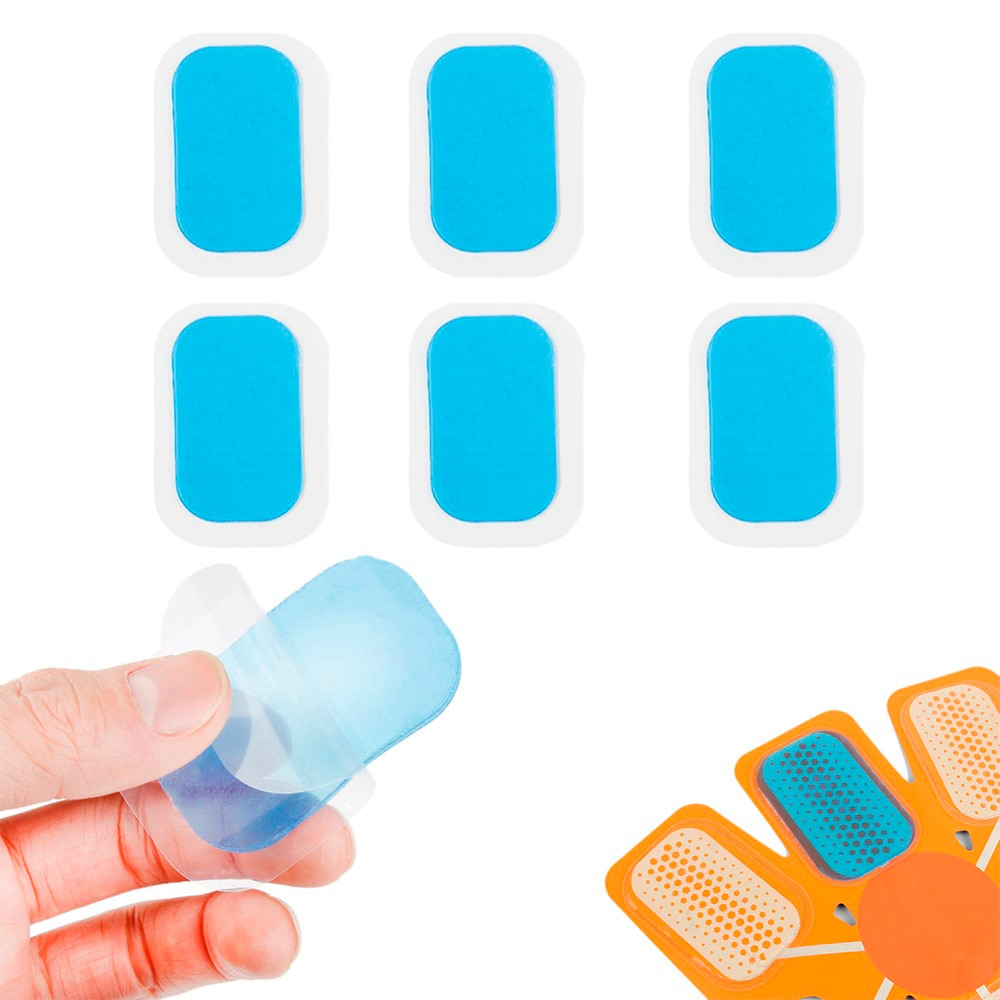 EMS 60 PCS Hydrogel Abdominal Gel Stickers Smart Muscle Stimulator Fitness Abdominal Tool Training Device Gym Equipment Stickers