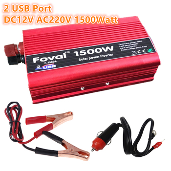 1500W Power Inverter 12v 220v 1500W  DC to AC  1500 Watt Converter car Charger Vehicle Power Supply Switch power inverter