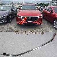 Подходит для Mazda Новый CX5 CX 5 2017 2018 Chrome ABS передний капот крышка отделка