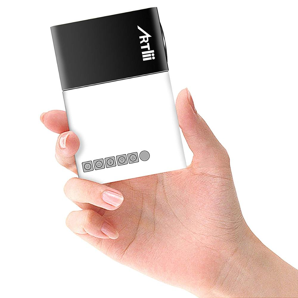 Artlii Tasche Projektor Tragbare LED Proyector 600 lumen Projektor USB SD HDMI Unterstützung Mini Projektor Multimedia Beamer