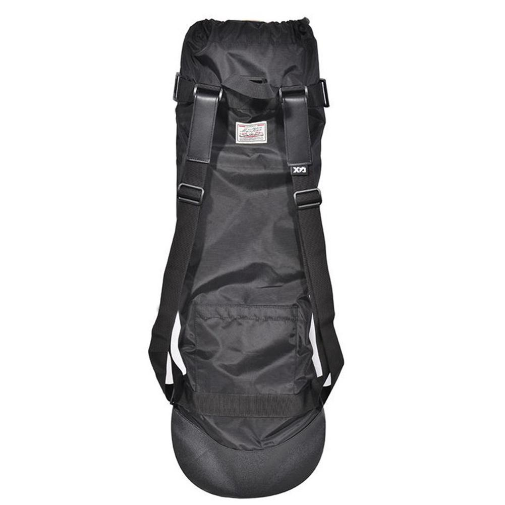 Adjule Black Longboard Backpack Skateboard Carry Bag Dance Board Drift Travel Rucksack Shouler Drawstring In Skate From Sports