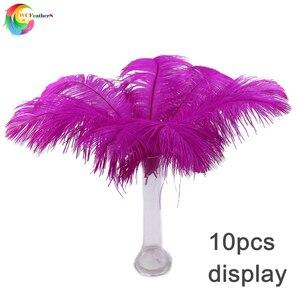 Image 5 - Оптом 10 шт./лот детские розовые страусиные перья для рукоделия 35 40 см карнавальные костюмы для вечерние НКИ дома Свадебные украшения Шлейфы