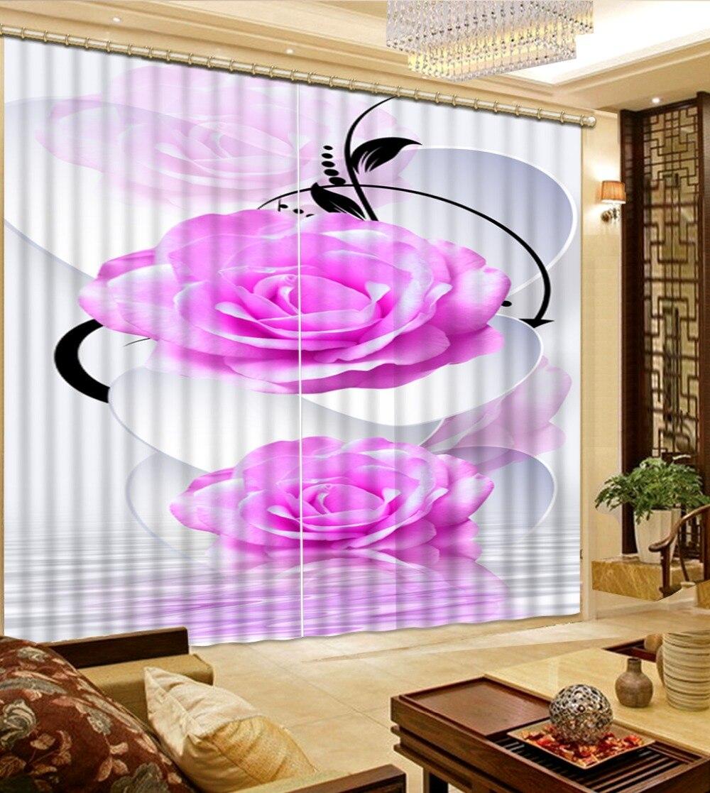 Stile europeo tende su misura tende 3d Bellissimi fiori 3d finestra tende di lusso tende moderne per soggiornoStile europeo tende su misura tende 3d Bellissimi fiori 3d finestra tende di lusso tende moderne per soggiorno