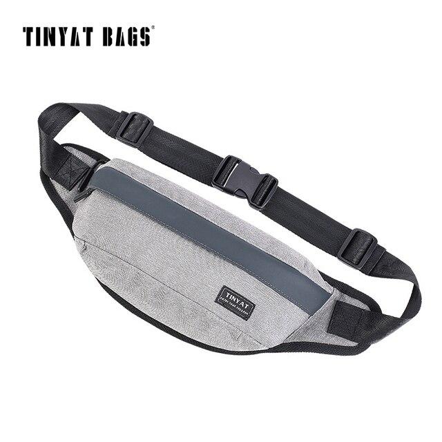 TINYAT Homens Saco Fanny Saco Da Cintura pacote Peito Lona Preta Bolsa de Ombro pacote de Saco De Cinto para o telefone do dinheiro Das Mulheres de Viagem pacote de Hip Bum