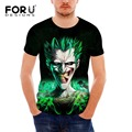 FORUDESIGNS Cool 3D Suicide Squad Joker T-shirt Men's T Shirt Fitness Tees Tops For Boys Summer Breathable Male Shirts Crossfit