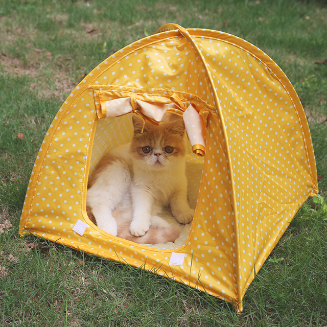 For Kitten Cat Small Dog Puppy Kennel Tents Cats Nest Toy House Portable Foldable Cute Dots & For Kitten Cat Small Dog Puppy Kennel Tents Cats Nest Toy House ...