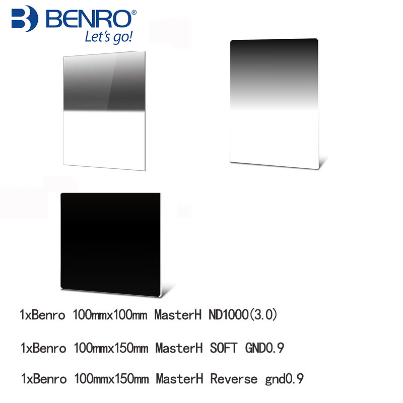 Benro MasterH 100x150mm Soft GND8 Reverse gnd0 9 100mm ND1000 Square Filter kit
