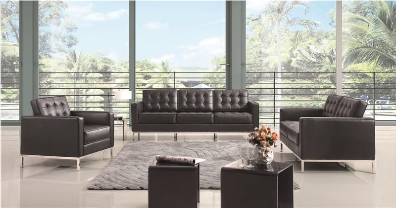 florence knoll sofa set 1+2+3 seater sofa real leather sofa designer sofa
