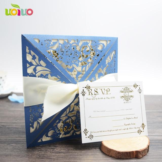 Brown Color English Wedding Invitation Card Muslim
