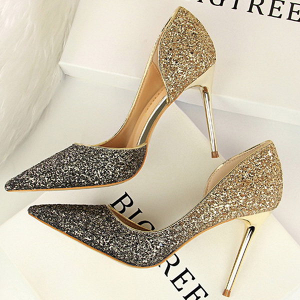 b6cb262ac71 Boussac Pointed Toe Bling Women Pumps High Heels Elegant Rhinestone High  Heels Shoes Luxury Wedding Shoes for Women SWB0108