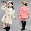 2016 Children's Clothing Baby Girls Trench Kids Coats Spring Autumn Girls Outwear & Jackets Casual Cotton Kids Outfits For Girls